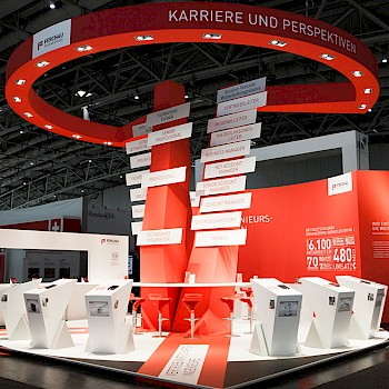 Eventagentur Düsseldorf Engineering IT Messestand Messe Hannover Ferchau Technik projekt