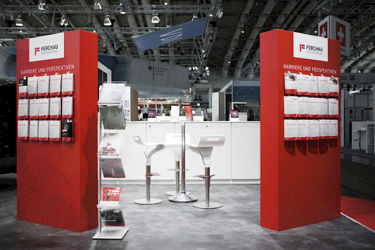 Engineering IT Messestand Messe Hannover Ferchau Technik projekt